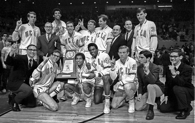 Lew Alcindor Scored 34 Points As The Bruins Blasted North Carolina 78 55 In NCAA Title Game At Sports Arena Los Angeles Victory Gave UCLA