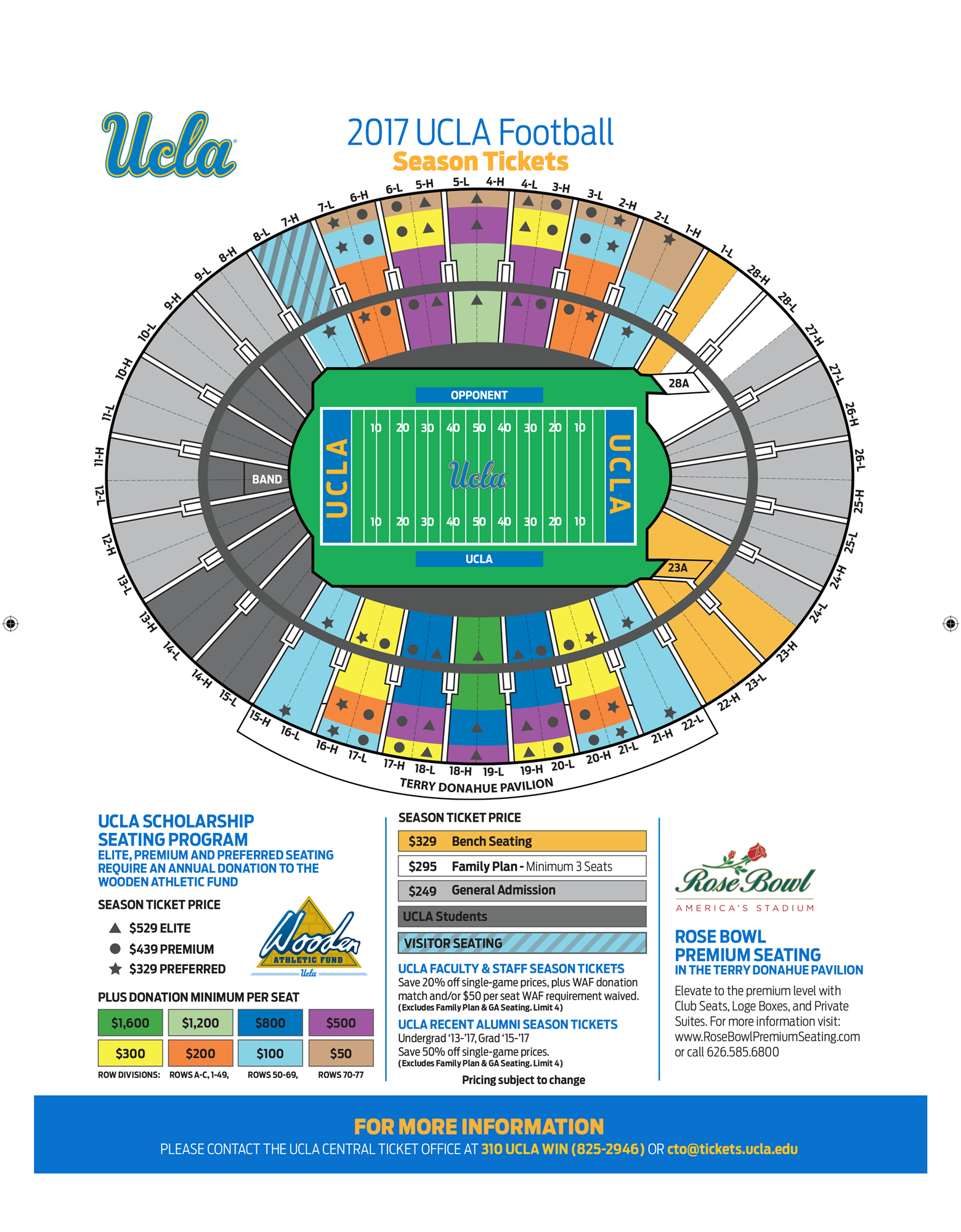2017 Select A Seat Rose Bowl Ucla