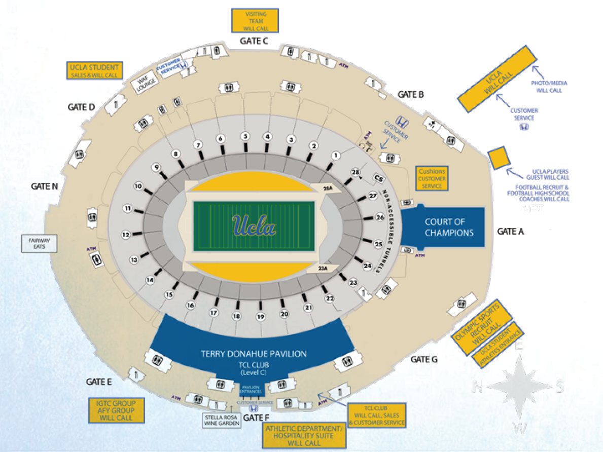Ucla Football Stadium Map Ucla